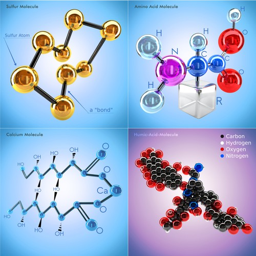 12 Chemical Molecule Illustrations
