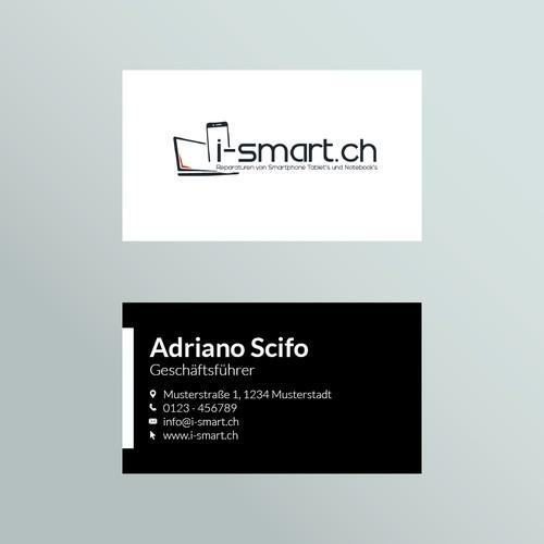 i-smart.ch Logo und Visitenkarten