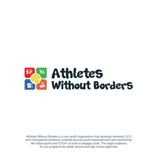 Logo concept for Athletes Without Borders