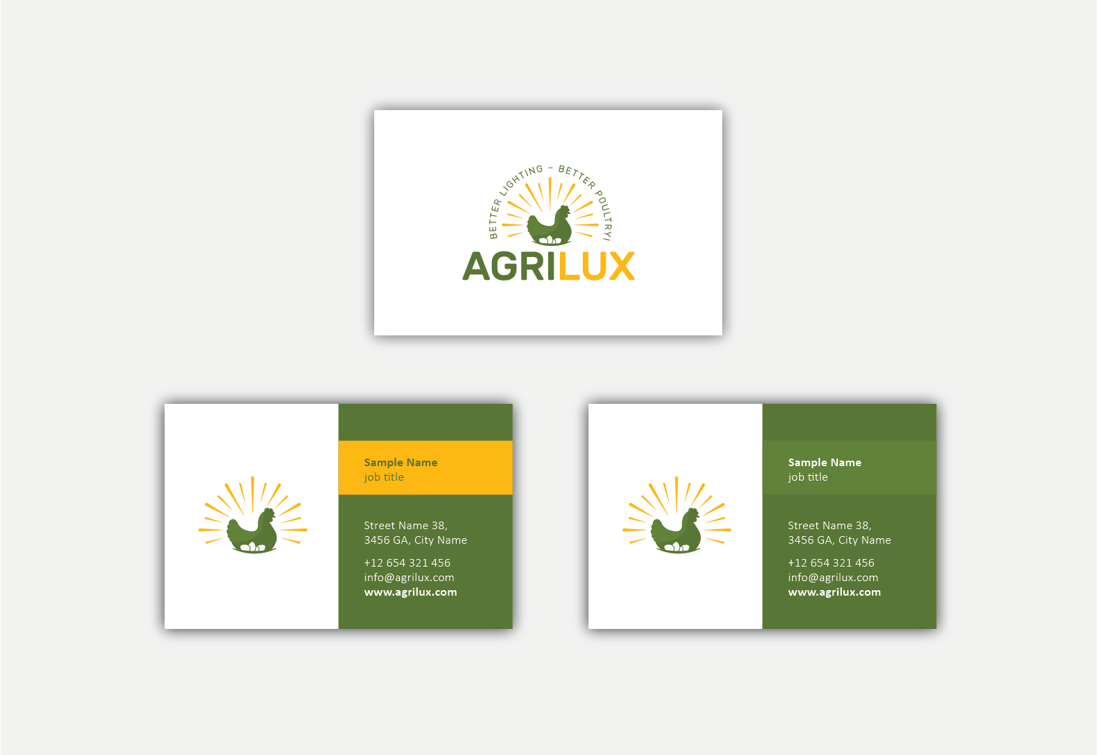 Design Agrilux logo to attract Poultry farmers who want to make more money
