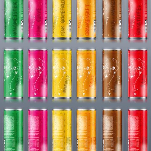 Dosenverpackung für Energydrink