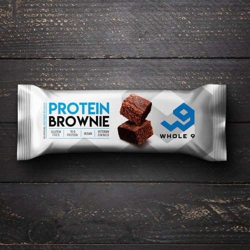 Protein brownie packaging design