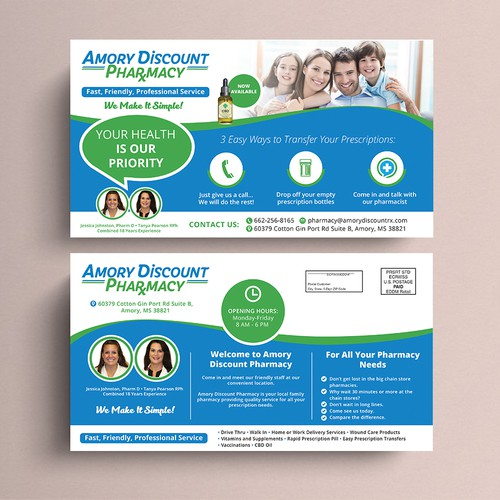 Amory Discount Pharmacy Post Card
