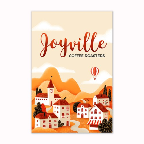 Illustration for coffee brand Joyville Coffee Roasters