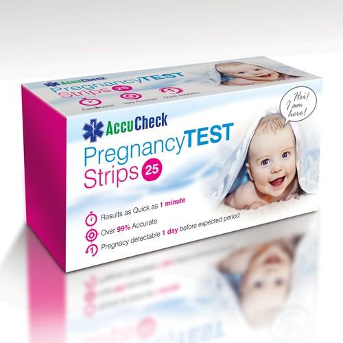 pregnancy test box design