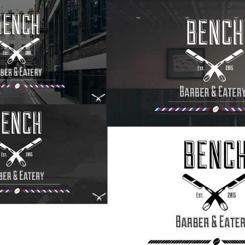 Minimal modern Logo for BENCH BARBERS