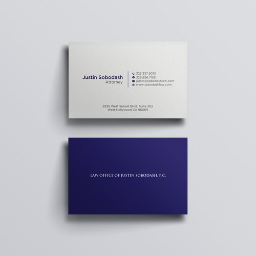 Law firm and MOO sized Business card