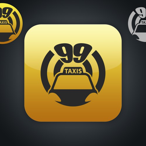 Logo for smartphone app: 99taxis