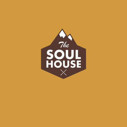 Create a logo for a new Ski and Snowboard shop named The Soul House