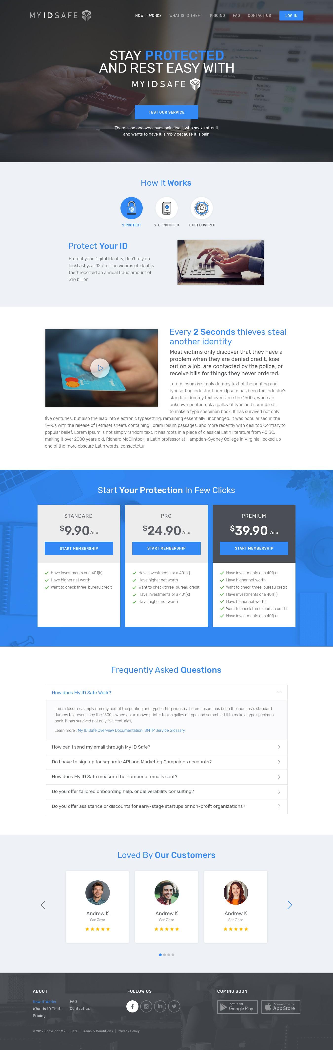 MY ID SAFE Website