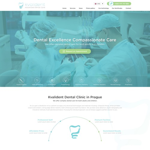 Website design for dental clinic