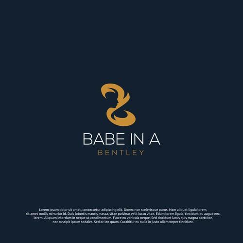 logo concept for babe in a bentley