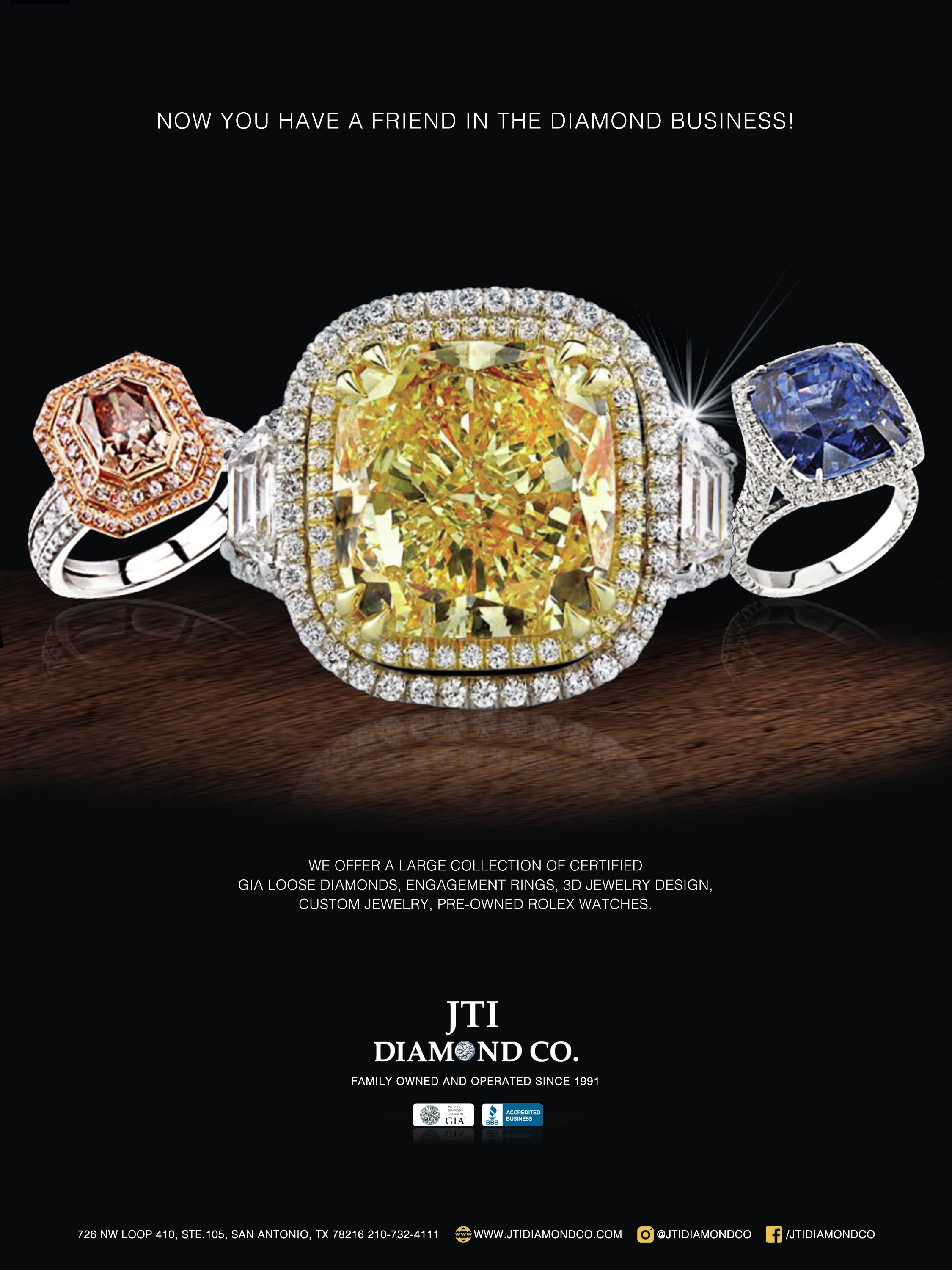 I want to create a custom magazine AD for jewelry store