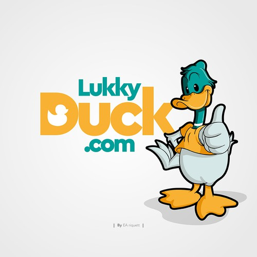 Ilustration concept for Lukky duck.com