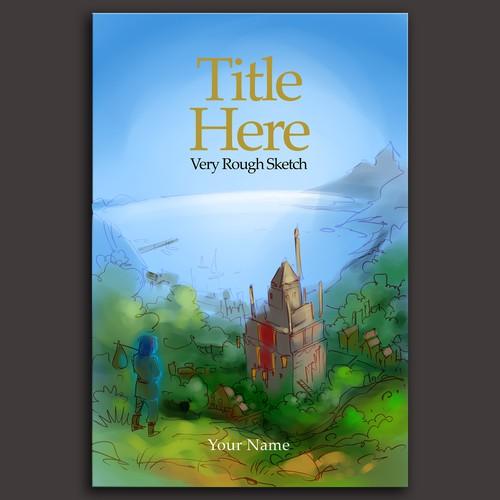 fantasy book cover illustration sketch