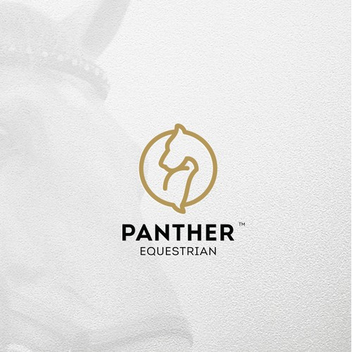Horse Panther logo mark combo