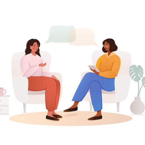 Illustrations for psychologist group practice website