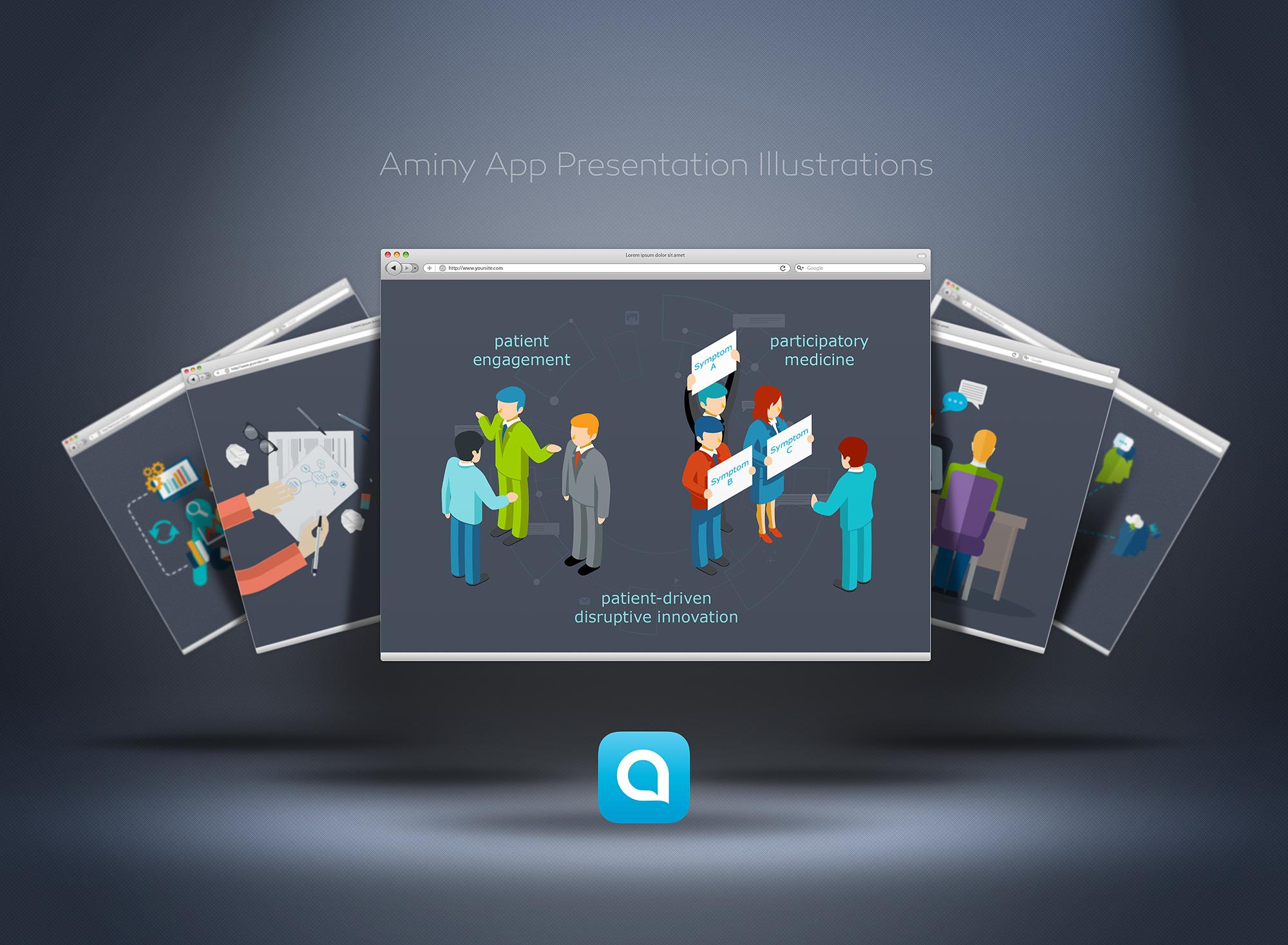 Illustration art for presentation