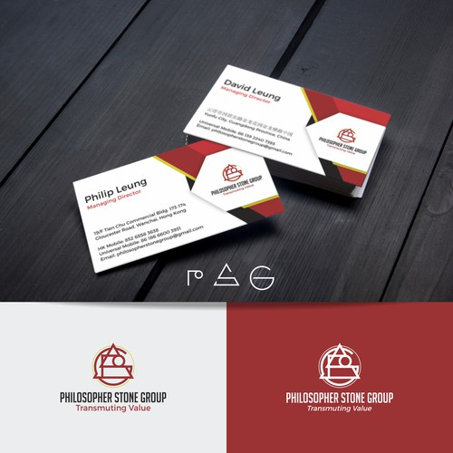 Logo and Business Card Design for Stone Block Trading Company