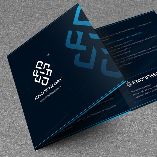Design a modern + dark trifold brochure!
