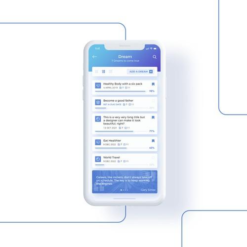 Dreamfore app design