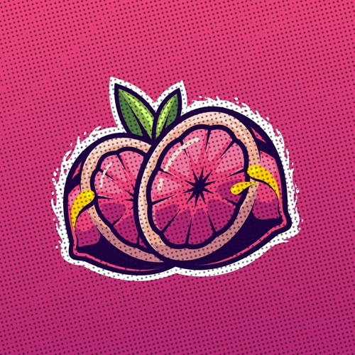Fruit Illustration for label design