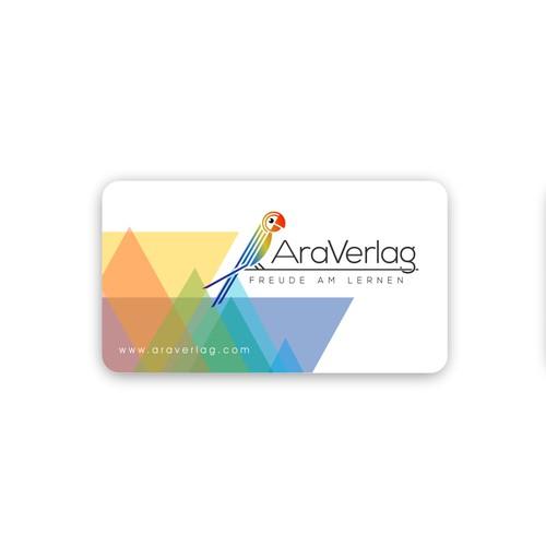 Logo and business card for AraVerlag