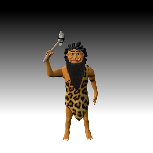 3D Caveman Mascot