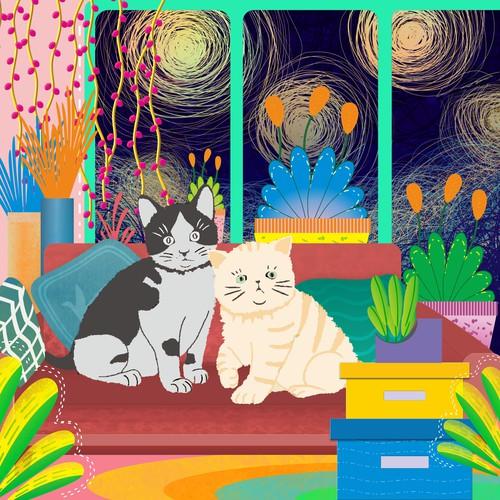 Children book cover design