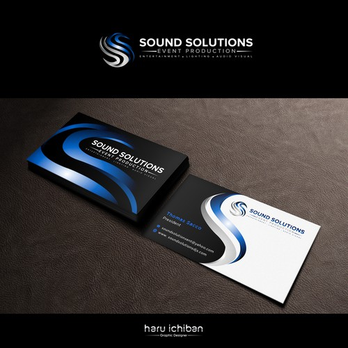Create business card for Sound Solutions