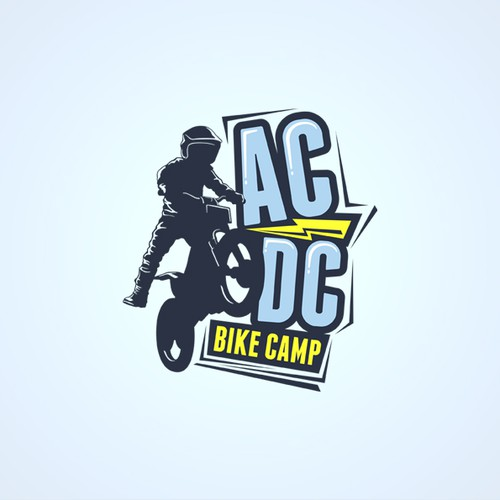 Create a logo for our fun, technical-bike-skills school that uses electric trials bikes.