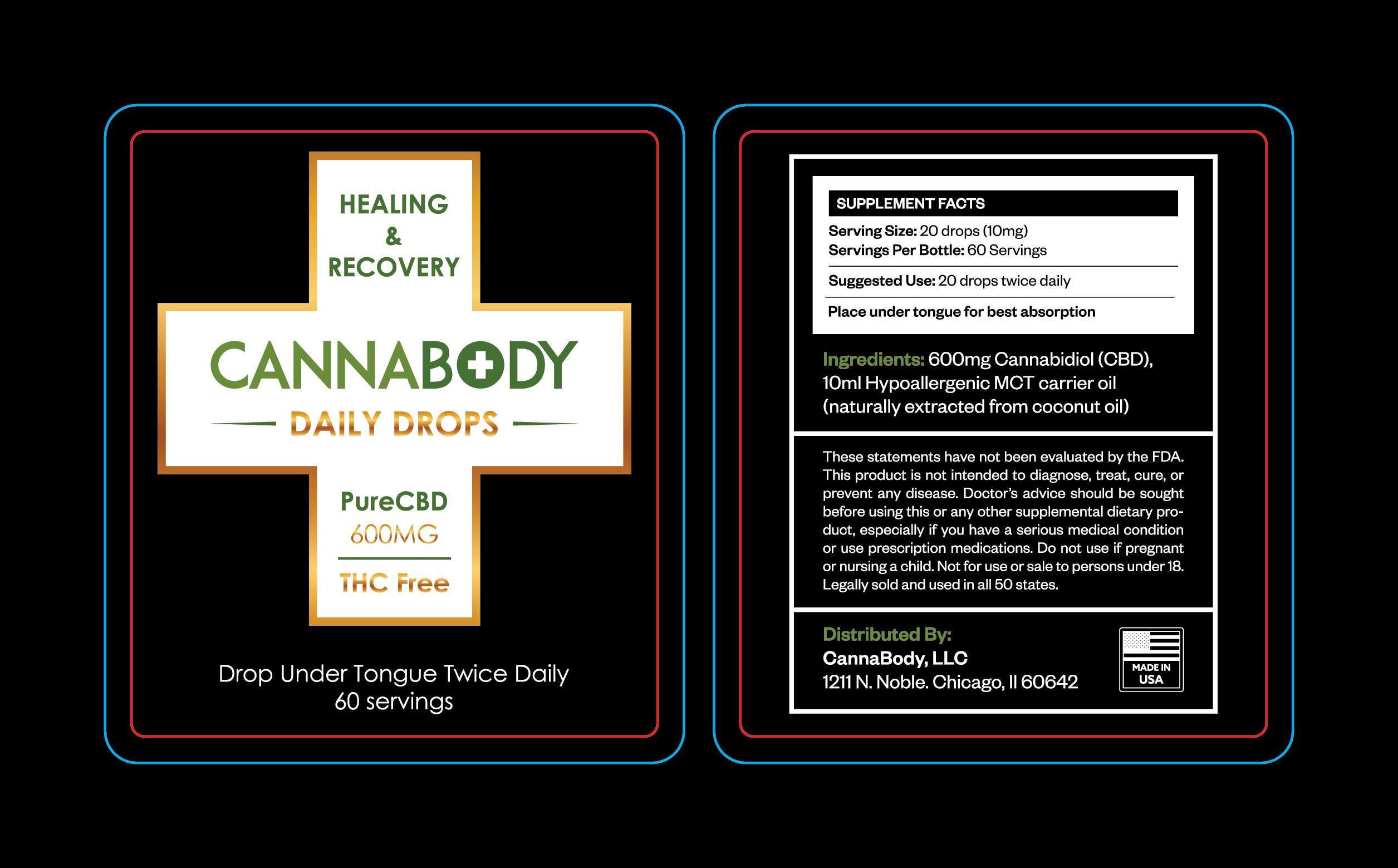 CannaBody CBD Oil Label Design Contest