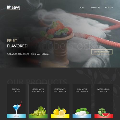 Khaleej Landing Page