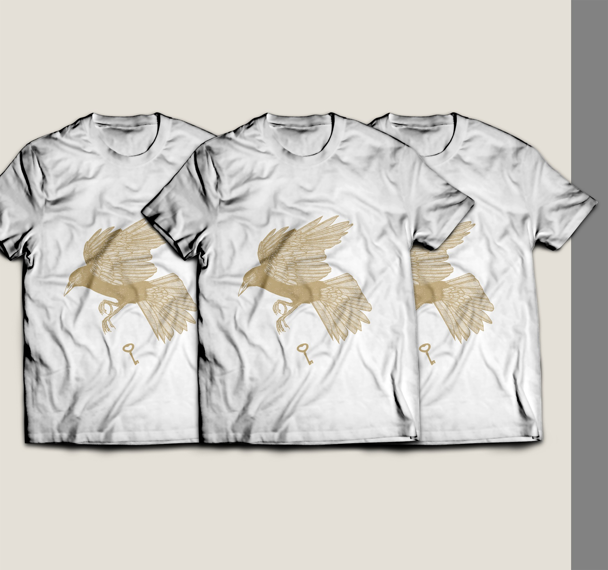 Design an engaging t-shirt layout with an existing illustration element