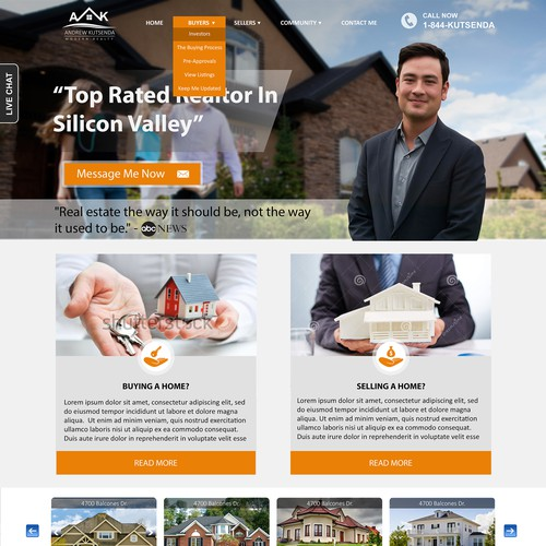 Real estate wordpress website