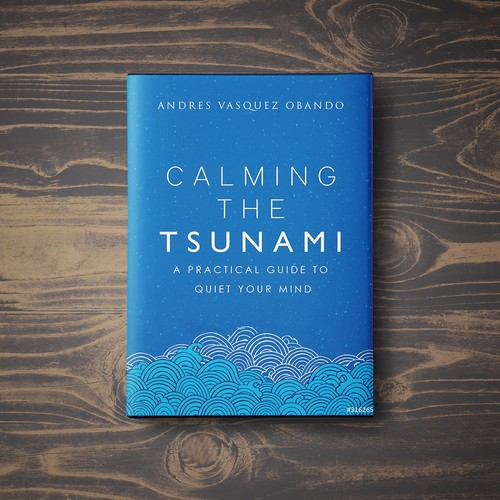 A calming book cover about reducing the clutters of the mind.