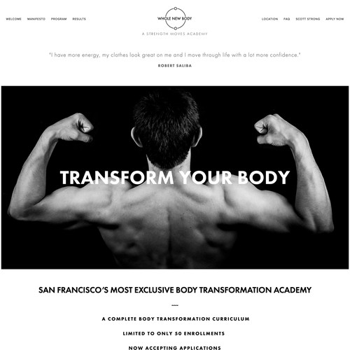 Custom Design for Fitness Program