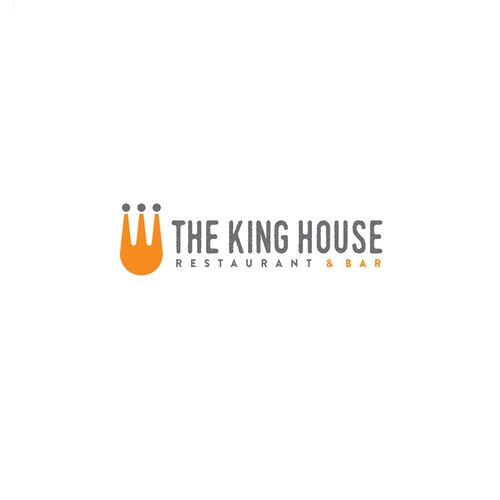 Logo design for The King House Restaurant and Bar