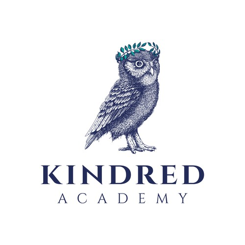 Realistic illustration of owl for Kindred Academy