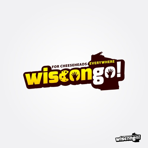 """Bold logo for the new game """"Wiscongo!"""""""