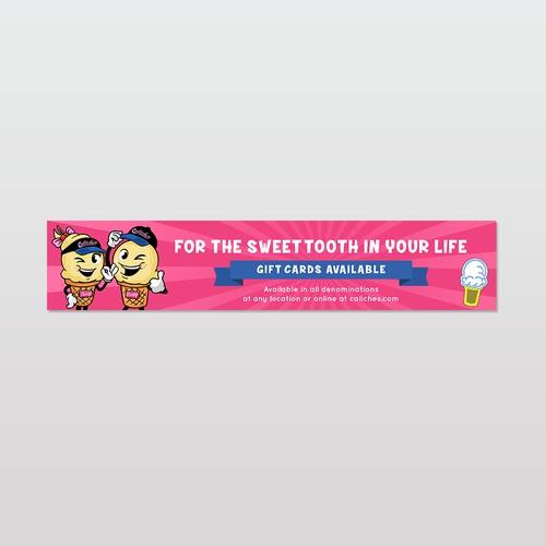 Sticker design for an Ice cream shop