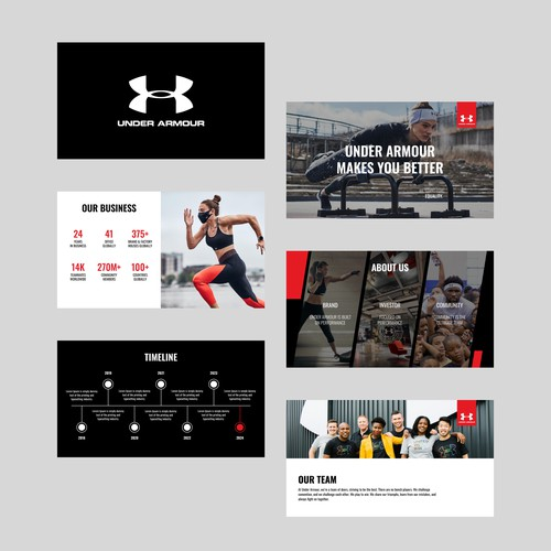 Presentation Template for Under Armour