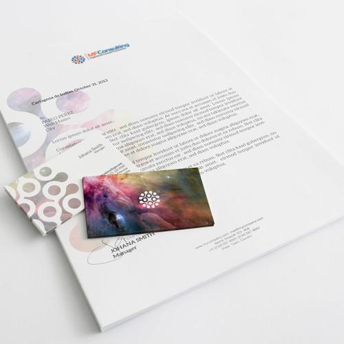 Eléments de papeterie pour MF Consulting - Société de prestation informatique