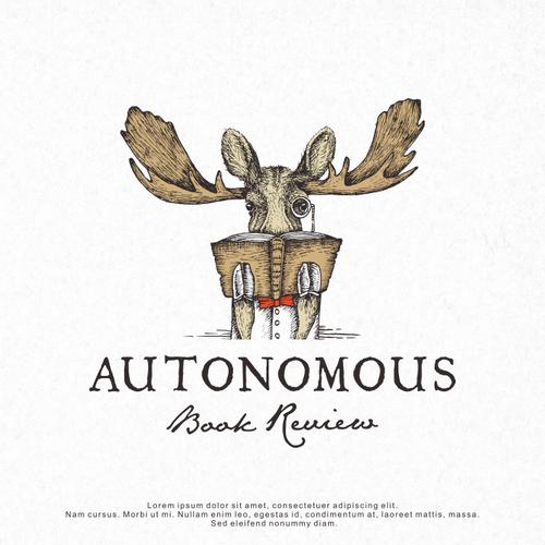 Logo Design for Autonomous Book Review