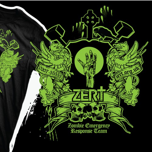 ZERT needs a new zombie t-shirt design