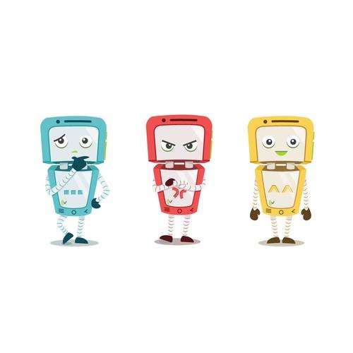 Original Smartphone Robot Character