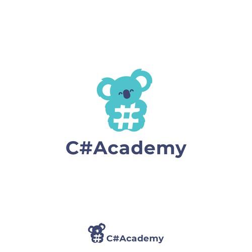 C# Academy - Cute Koala Logo