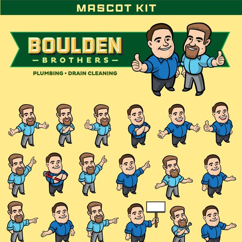 Boulden Characters Poses