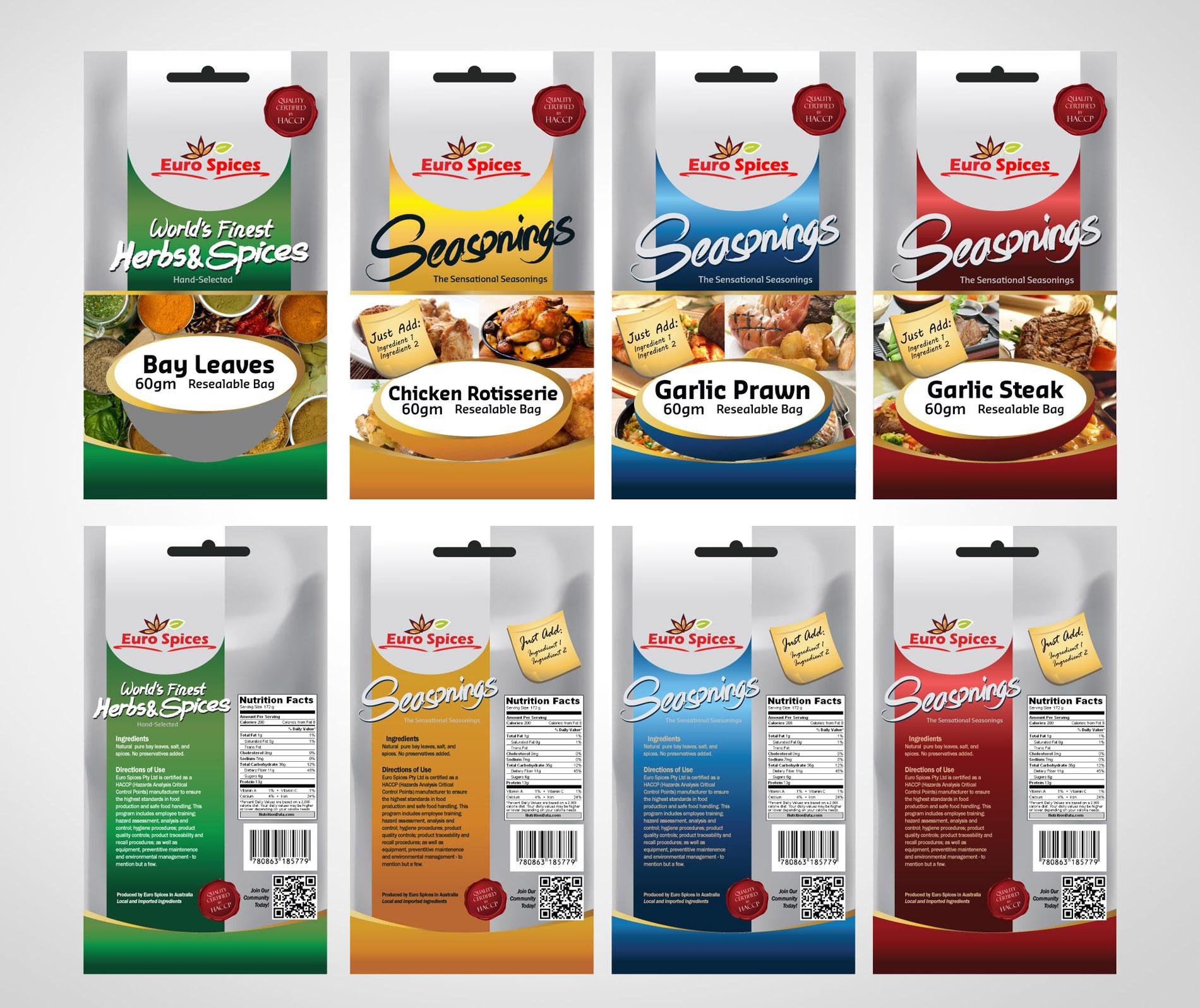 Euro Spices Large packaging design - LARGE BONUS FOR WINNING DESIGN