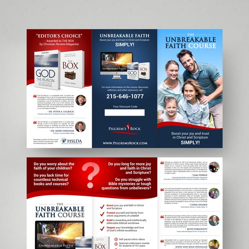 Create a compelling brochure for an online course